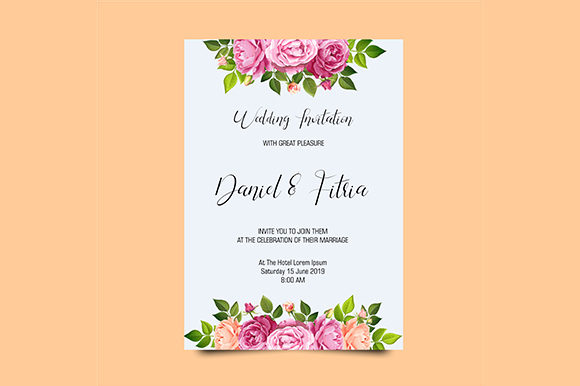 Download Free Elegant Wedding Invitation Template Graphic By Bint Studio for Cricut Explore, Silhouette and other cutting machines.