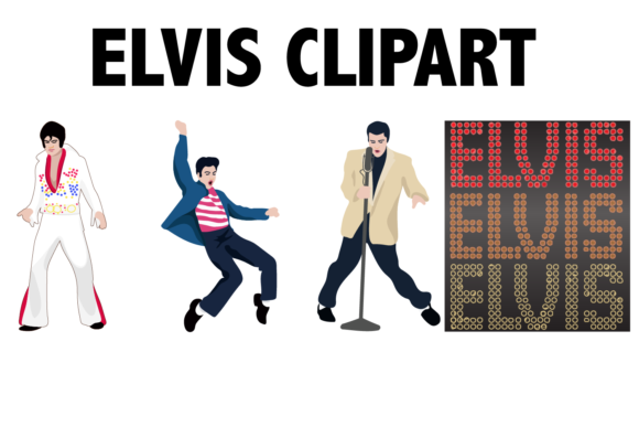 Print on Demand: Elvis Presley Icons Graphic Illustrations By Mine Eyes Design