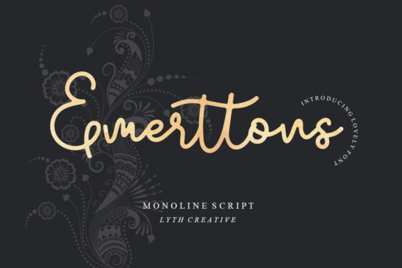 Print on Demand: Emerttons Script & Handwritten Font By lyanatha - Image 1
