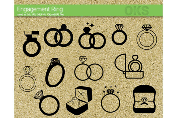 Download Free Engagement Ring Svg Vector Graphic By Crafteroks Creative Fabrica for Cricut Explore, Silhouette and other cutting machines.