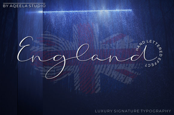 Print on Demand: England Script & Handwritten Font By Aqeela Studio