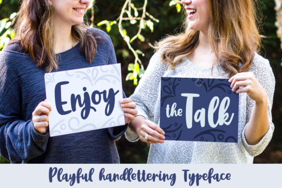 Print on Demand: Enjoy the Talk Script & Handwritten Font By Rifki (7ntypes) - Image 1