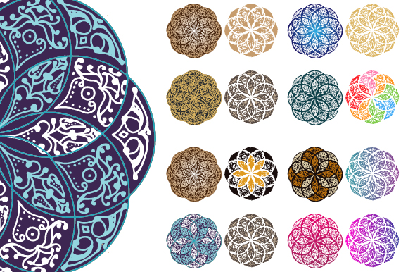 Download Free Ethnic Vintage Mandala Decorative Graphic By Asgiaiko Creative for Cricut Explore, Silhouette and other cutting machines.