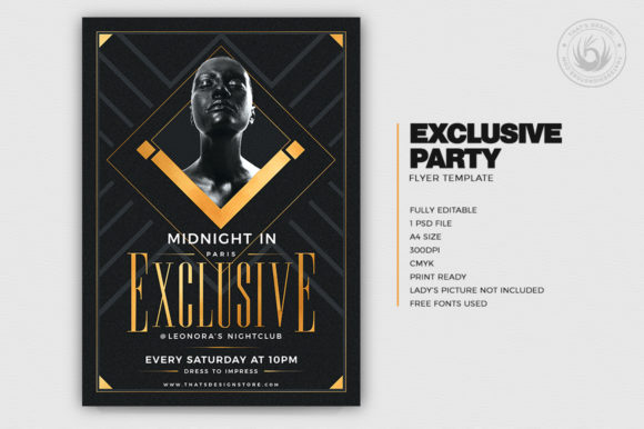 Exclusive Party Flyer Template Graphic By ThatsDesignStore Image 2