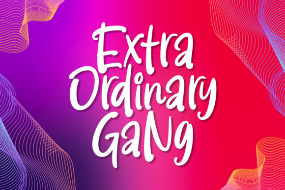 Print on Demand: Extra Ordinary Gang Script & Handwritten Font By Keithzo (7NTypes)