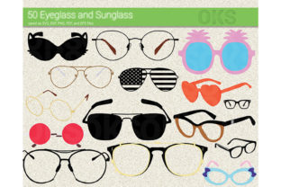 Print on Demand: Eyeglasses, Sunglasses Vector Graphic Crafts By CrafterOks