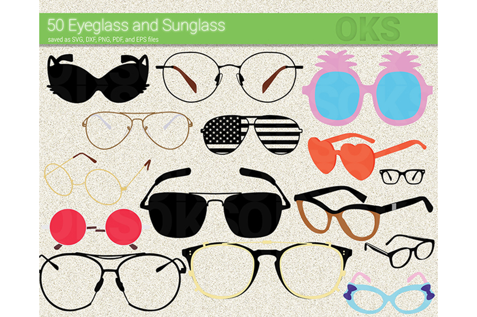 Download Free Eyeglasses Sunglasses Vector Graphic By Crafteroks Creative for Cricut Explore, Silhouette and other cutting machines.