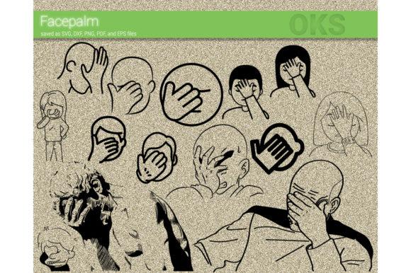 Download Free Facepalm Vector Graphic By Crafteroks Creative Fabrica for Cricut Explore, Silhouette and other cutting machines.