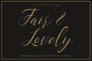 Fair & Lovely Font By Encolab