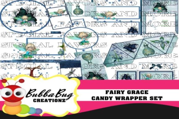 Fairy Grace Candy Wrapper Set Graphic Crafts By BUBBABUG