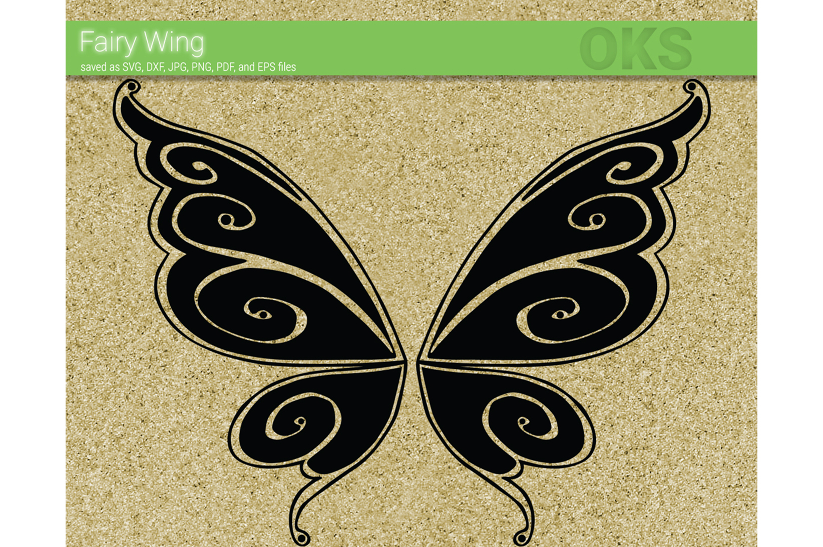Download Free Fairy Wing Vector Graphic By Crafteroks Creative Fabrica for Cricut Explore, Silhouette and other cutting machines.