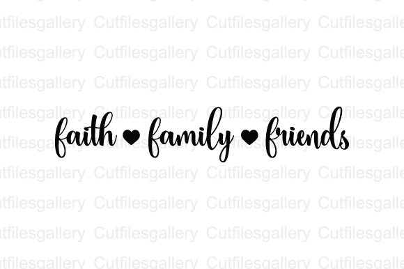 Download Free Faith Family Friends Svg Graphic By Cutfilesgallery Creative for Cricut Explore, Silhouette and other cutting machines.