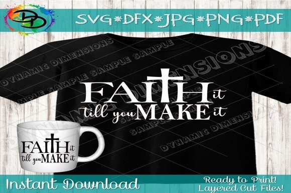 Download Free Faith Svg Cross Svg Graphic By Dynamicdimensions Creative Fabrica for Cricut Explore, Silhouette and other cutting machines.