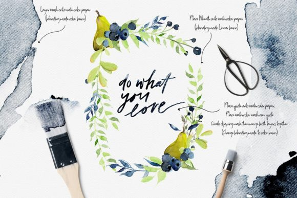 Download Free Falling Watercolor Clipart Bundle Graphic By Creativeqube Design Creative Fabrica for Cricut Explore, Silhouette and other cutting machines.