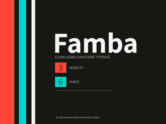 Print on Demand: Famba Sans Serif Font By Stype Foundry