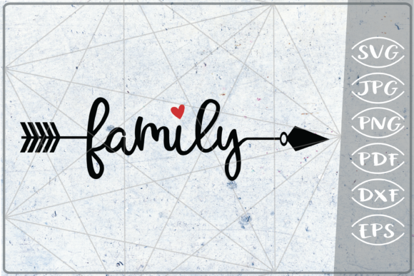 Download Free Family Arrow Crafters Printables Graphic By Cute Graphic for Cricut Explore, Silhouette and other cutting machines.
