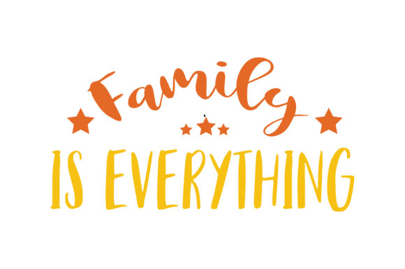 Print on Demand: Family is Everything Quote SVG Cut Graphic Crafts By TheLucky