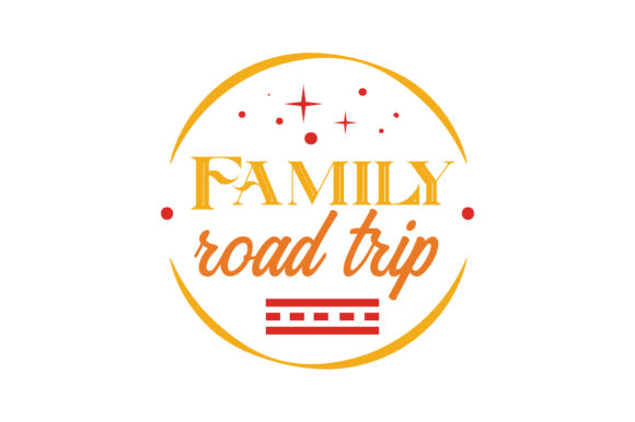 Print on Demand: Family Road Trip Quote SVG Cut Grafik Designvorlagen von TheLucky