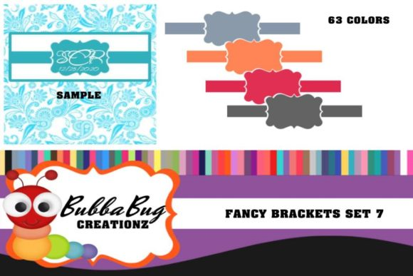 Fancy Brackets Set 7 Graphic Crafts By BUBBABUG