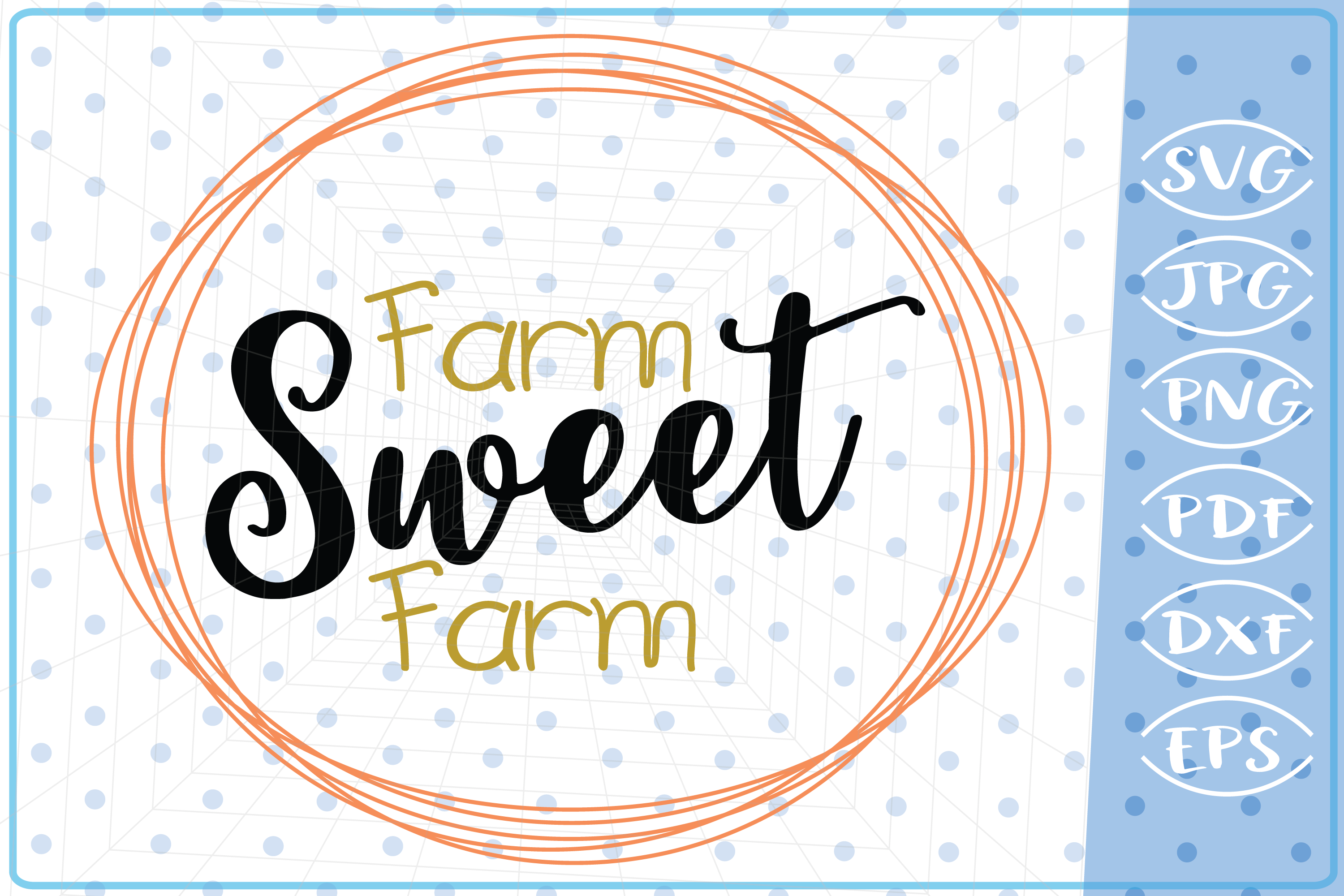 Download Free Farm Sweet Farm Graphic By Cute Graphic Creative Fabrica for Cricut Explore, Silhouette and other cutting machines.