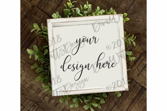 Farmhouse Sign Mockup Mock-Up Graphic Product Mockups By Diva Watts Designs