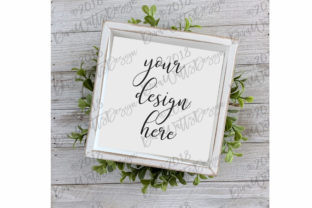 Farmhouse Style Sign Mockup Mock-Up Graphic Product Mockups By Diva Watts Designs
