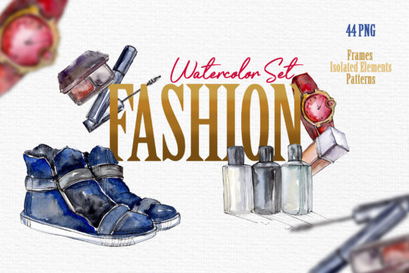 Print on Demand: Fashion Watercolor   Graphic Illustrations By MyStocks
