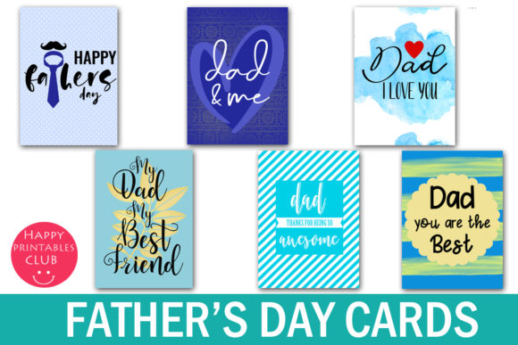 Print on Demand: Father's Day Cards-Photo Overlays Graphic Illustrations By Happy Printables Club - Image 2