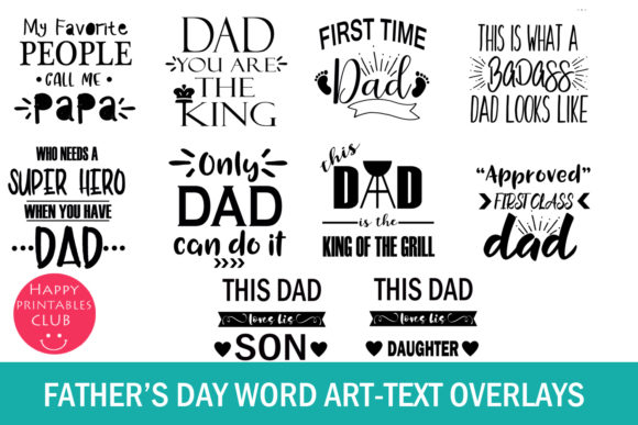 Download Free Father S Day Cards Photo Overlays Graphic By Happy Printables for Cricut Explore, Silhouette and other cutting machines.