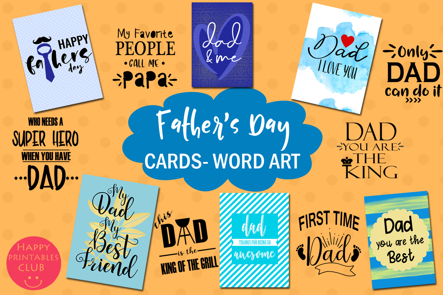 Download Free Father S Day Cards Photo Overlays Graphic By Happy Printables Club Creative Fabrica for Cricut Explore, Silhouette and other cutting machines.