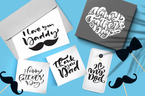 Download Free Father S Day Vector Svg Greeting Quotes Graphic By Happy Letters for Cricut Explore, Silhouette and other cutting machines.