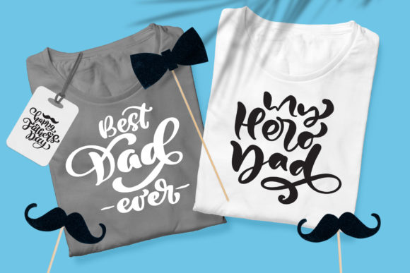 Father`s Day Vector SVG Greeting Quotes Graphic By Happy Letters Image 4