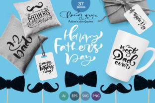 Father`s Day Greeting Quotes Graphic Objects By Happy Letters