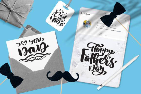 Father`s Day Vector SVG Greeting Quotes Graphic By Happy Letters Image 7