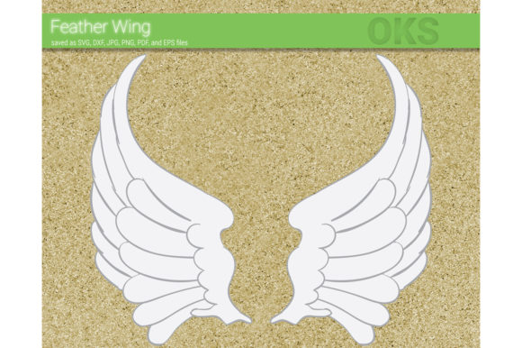 Print on Demand: Feather Wing Vector Graphic Crafts By CrafterOks