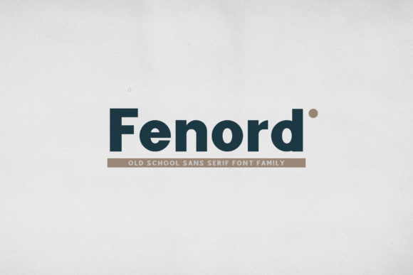 Print on Demand: Fenord Sans Serif Font By craftsupplyco