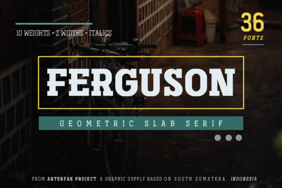 Print on Demand: Ferguson Family Slab Serif Font By Arterfak Project