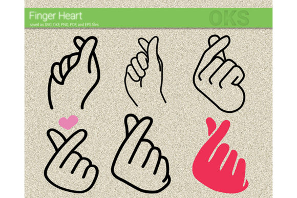 Download Free Finger Heart Vector Kpop Korean Graphic By Crafteroks for Cricut Explore, Silhouette and other cutting machines.