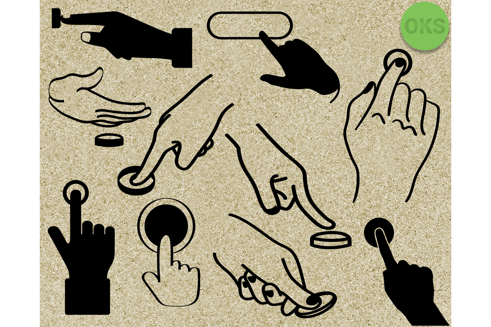 Download Free Finger Pushing A Button Svg Push Vector Graphic By Crafteroks for Cricut Explore, Silhouette and other cutting machines.