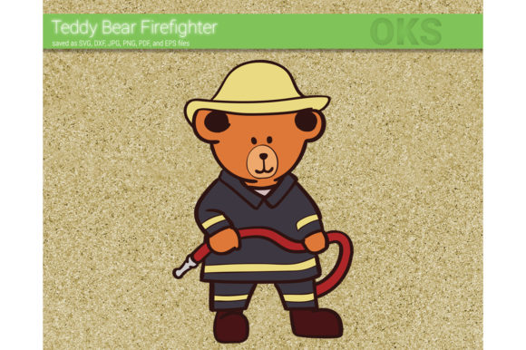 Download Free Firefighter Teddy Bear Svg Vector Graphic By Crafteroks for Cricut Explore, Silhouette and other cutting machines.
