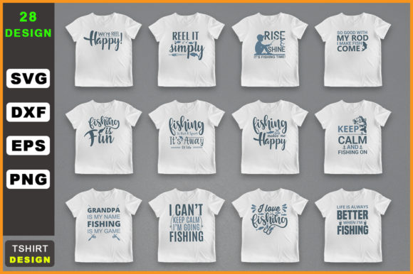 Download Free Fishing Bundle Fishing T Shirt Graphic By Handmade Studio SVG Cut Files