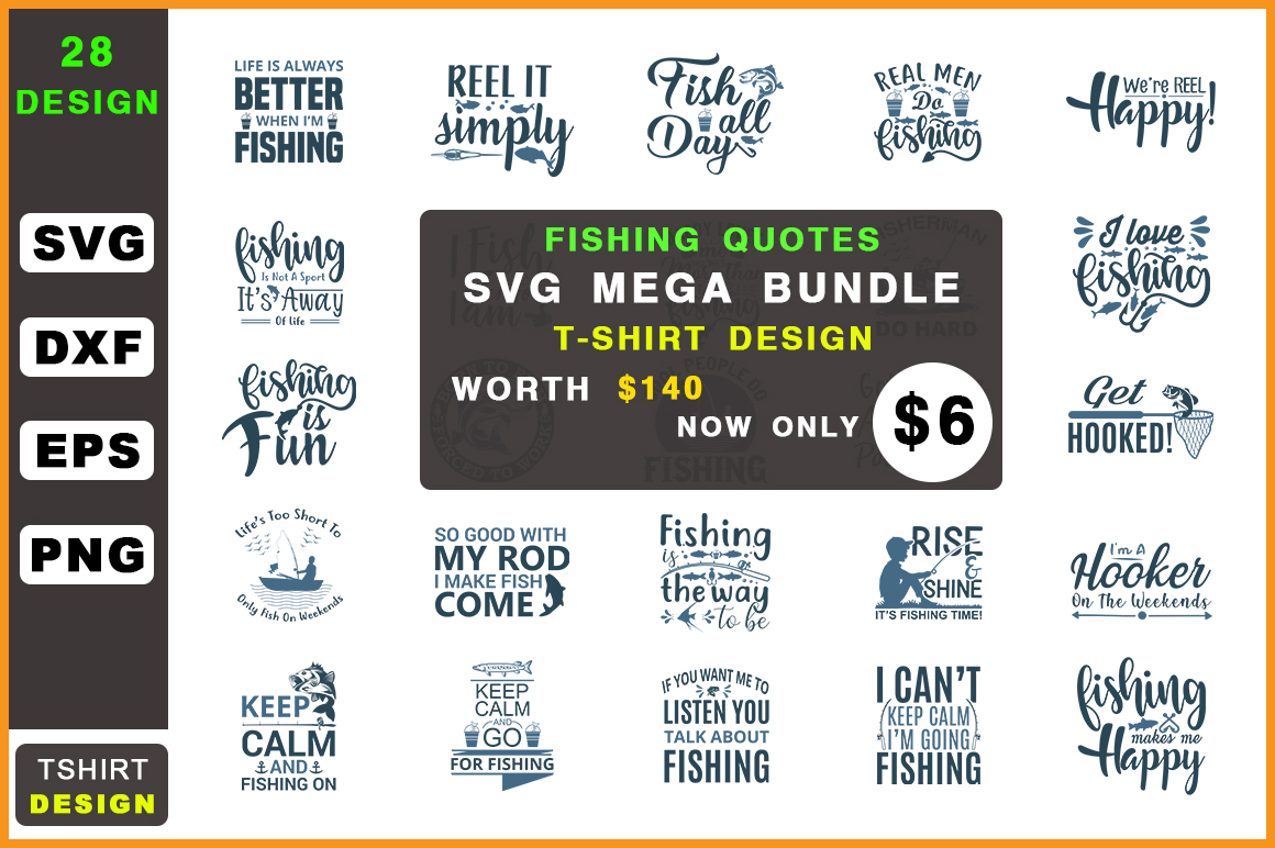 Download Free Fishing Bundle Fishing T Shirt Graphic By Handmade Studio Creative Fabrica for Cricut Explore, Silhouette and other cutting machines.