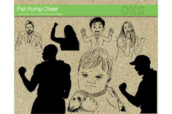 Download Free Fist Pump Cheer Svg Vector Graphic By Crafteroks Creative Fabrica for Cricut Explore, Silhouette and other cutting machines.