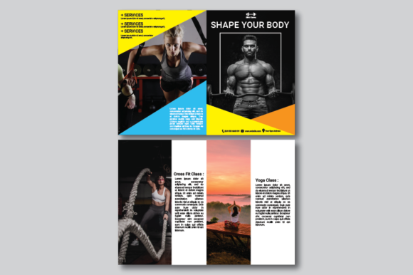 Download Free Fitness Brochure Graphic By Nirmala Graphics Creative Fabrica for Cricut Explore, Silhouette and other cutting machines.