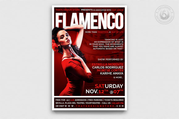 Flamenco Flyer Template V1 Graphic By ThatsDesignStore