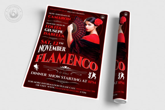 Flamenco Flyer Template V2 Graphic Print Templates By ThatsDesignStore - Image 3