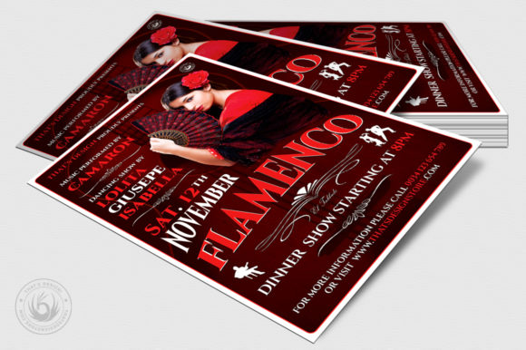 Flamenco Flyer Template V2 Graphic Print Templates By ThatsDesignStore - Image 4