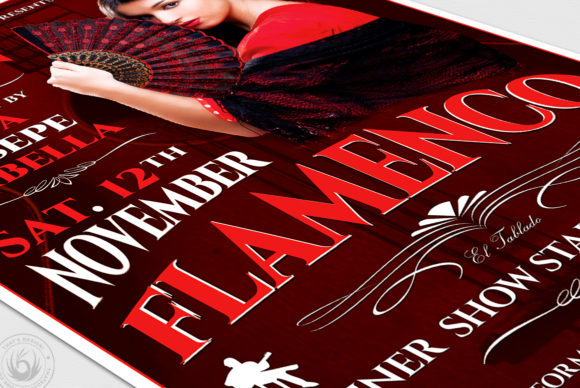 Flamenco Flyer Template V2 Graphic Print Templates By ThatsDesignStore - Image 6
