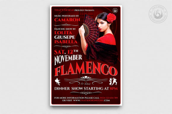 Flamenco Flyer Template V2 Graphic By ThatsDesignStore