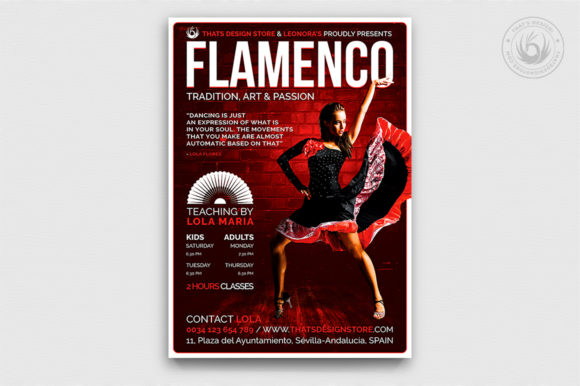 Flamenco Flyer Template V3 Graphic By ThatsDesignStore